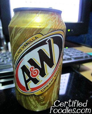 A&W Sparkling Vanilla Cream Soda