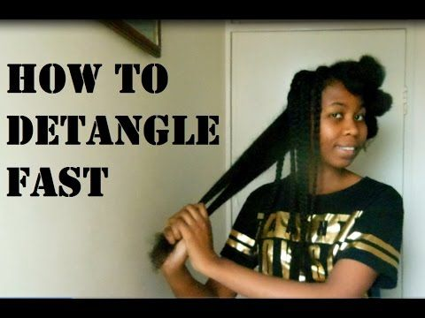 HOW TO DETANGLE NATURAL HAIR FASTER !!