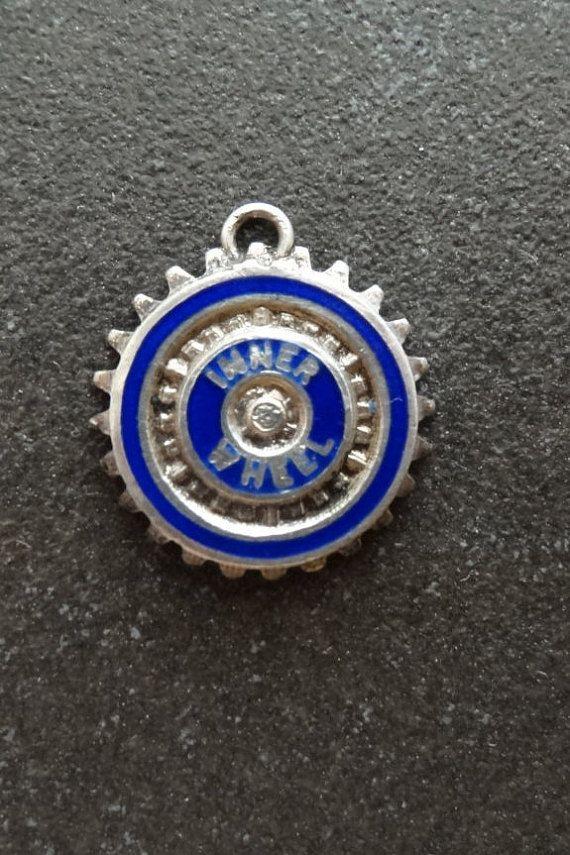 Inner Wheel Rotary Club Enamel Vintage Silver by JackInTheBox7