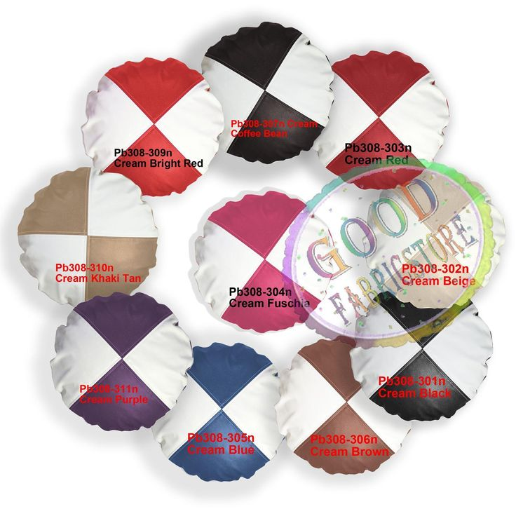 Pb Mixed Color Checker Faux Leather Round Cushion Cover/Pillow Case Custom Size
