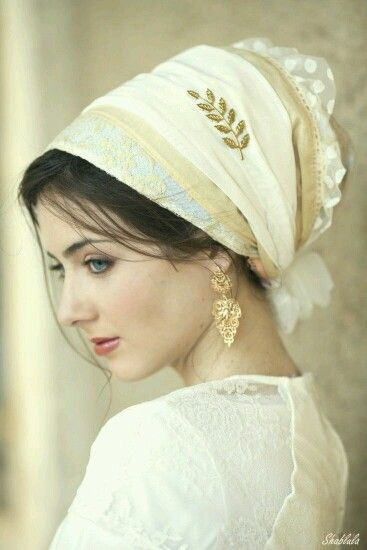 beautiful head wrap....must try <3