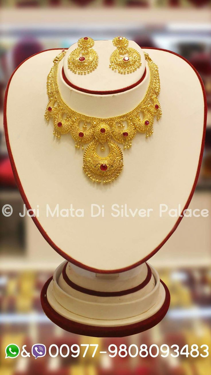 Lovely gold jewelry design