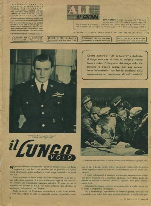 Ali di Guerra volo Roma - Tokio 1942