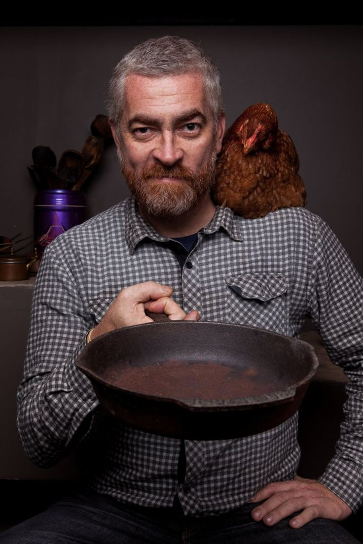 Alex Atala - excentric Brizilian chef-owner of D.O.M in Sao Paulo. He is an ex - DJ