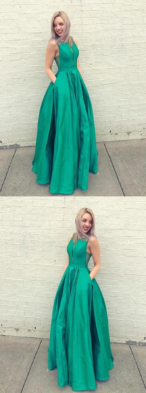Outlet Fetching Prom Dresses Green Prom Dresses 2019 Prom Dresses A Line Prom Dresses 2019 Prom Prom Dresses With Pockets Green Prom Dress Prom Dresses Long