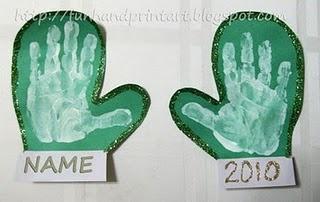 """handprint mittens: """"the mitten"""" mittens craft"""