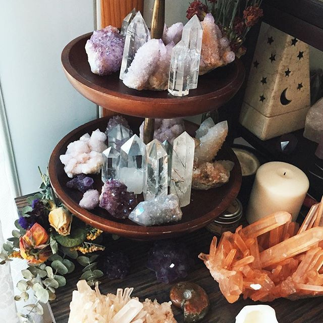 Picking out crystals for the coming update, soon to be announced! The crystals pictured are from my personal collection, but I plan to add several spirit quartz beauties and lots of crystal towers  Wishing you all a beautiful! I'll show a sneak peak on my story later