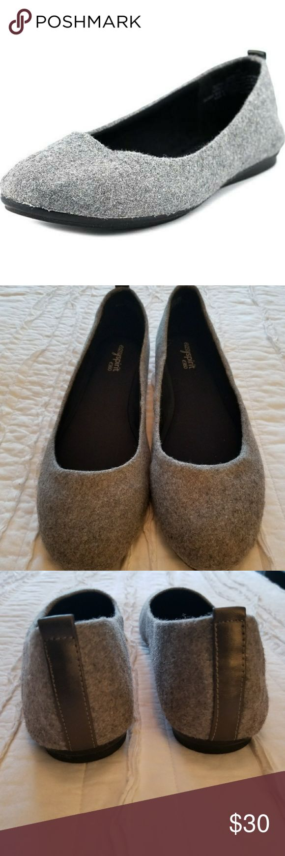 Easy Spirit e360 Flats Excellent used condition.  Never worn outside.  Gray felt like upper.  Size 11 medium. Easy Spirit Shoes Flats & Loafers