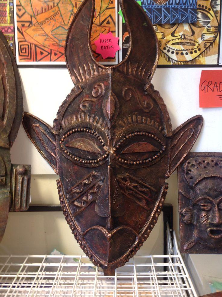 GCSE African Masks project
