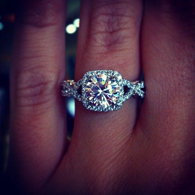 Verragio INS-7070CU-GOLD 0.45ctw Diamond Engagement Ring