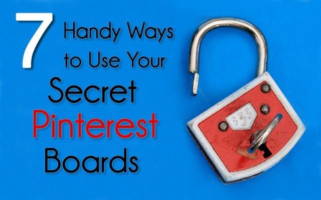 Pinterest is now letting users pin in private, with access to three private boards. Here are some handy ways to use your new Pinterest secret boards.