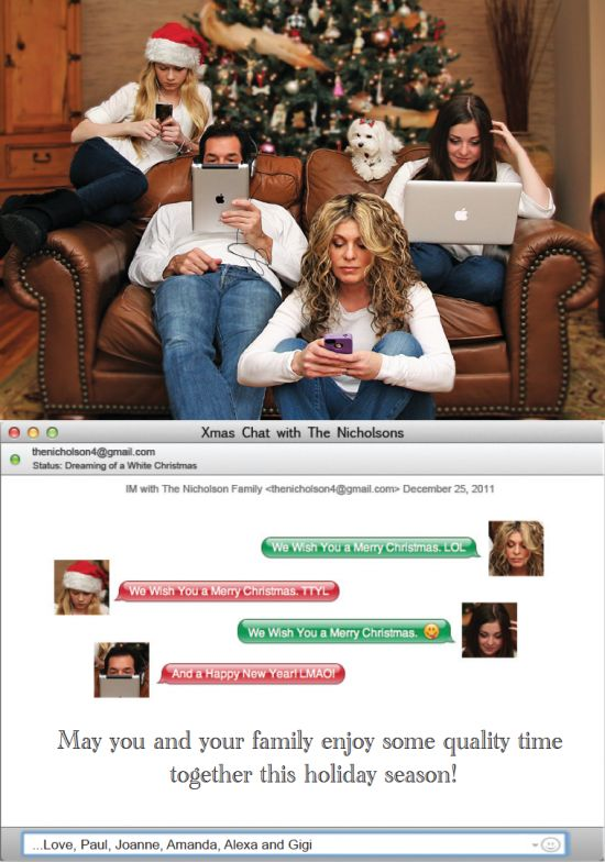 Funny Christmas card | Happy Place | Xmas Chat With the Nicholson Family  #Christmas #Xmas #chat #tech