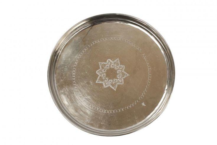 Antikt sølvfat fra tine k home