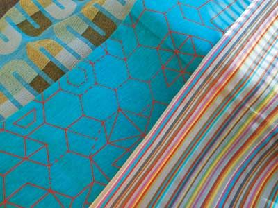 GEOMETRIC Sunbury Textiles - Swoosh Graphic, Linear Fusion, Shawbury #Fabric