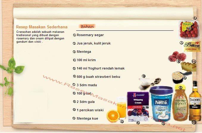 Resep Dessert - Bahan Cranachan Sundae  #resep#masakan#sederhana#makanan#penutup#dessert#enak#icecream#bahan#  You tube : http://www.youtube.com/watch?v=EnLfRl00-38  Nb : website (http://ResepMasakanSederhana.net/) kami dalam proses pembuatan
