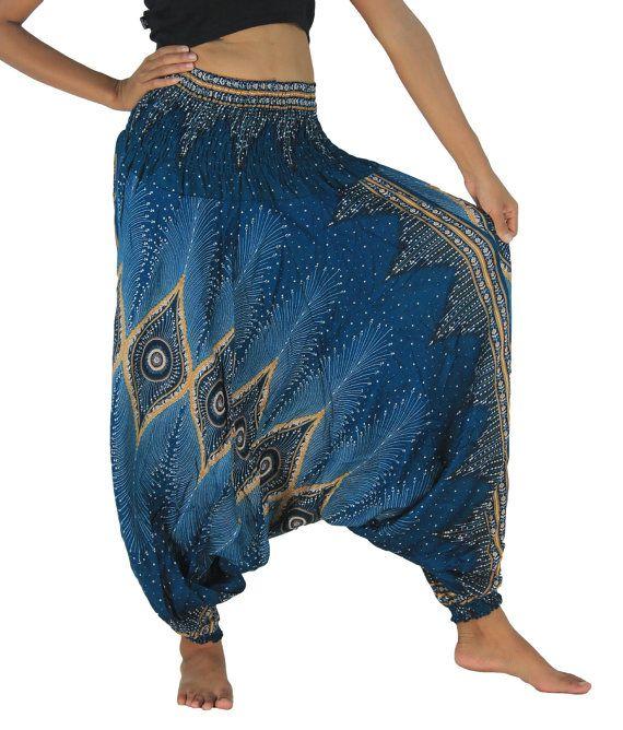 Baggy Jumpsuit Yoga Pant Aladdin Harem PantsBoho Pants by NaLuck aba4cc7cc2cc