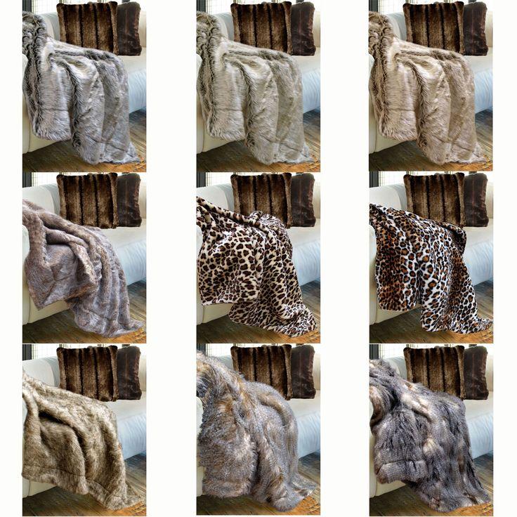 Luxury Faux Fur Animal Throw Rug