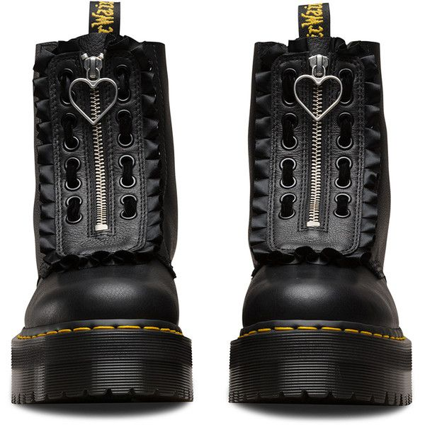 LAZY OAF JUNGLE BOOT (5.508.650 VND) ❤ liked on Polyvore featuring shoes, boots, real leather boots, chunky platform shoes, zipper shoes, platform shoes and leather shoes