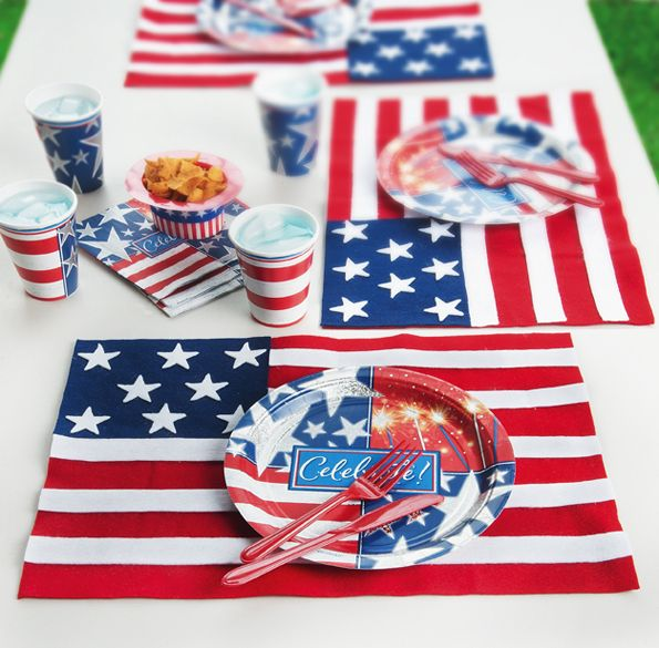 Easy Americana Placemats Fabric Crafts Placemats Crafts