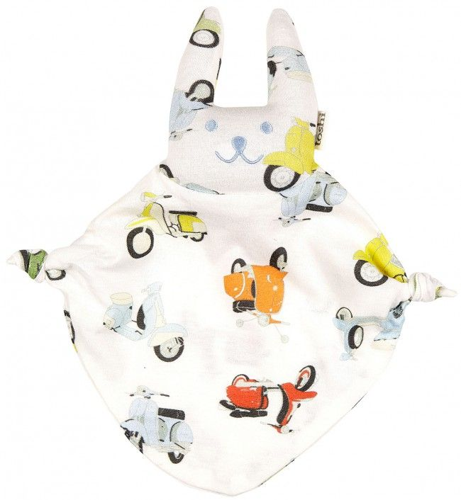 The ultra-cute Toshi Baby Bunny in Scooter is a sweet gift for any newborn baby boy. Featuring a funky, multi-colour scooter print,  this cool bunny is sure to be your little ones new best friend.