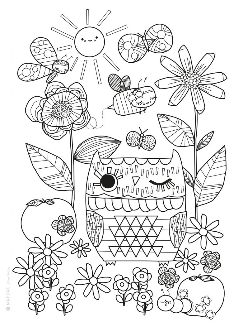 Mollie Makes Free Printable Coloring Sheet Coloring