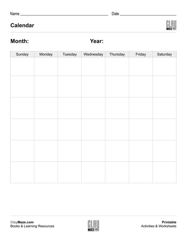 Best 25+ Blank Monthly Calendar Template Ideas On Pinterest   Blank  Brochure Template  Blank Brochure Templates
