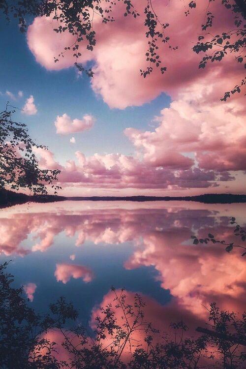 nature, clouds, and lake image