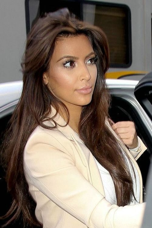 Kardashian Brunette Hair Shades Of Kim Kardashian Brown Hair Color Kardashian