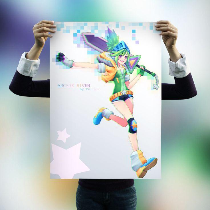 League of Legends Arcade Riven Fanart Poster (Original Artwork)