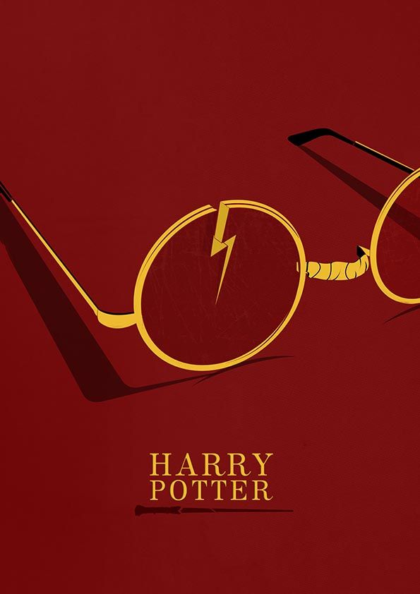 Harry Potter Minimal Poster by pbrainillustration