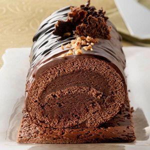 Bûche de Noël tout chocolat // cherry-plum.com
