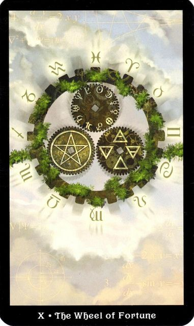 Steampunk Tarot - Wheel of Fortune by 78Whispers, via Flickr  https://www.facebook.com/78Whispers