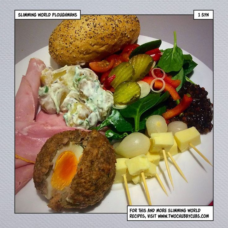 this ploughman's lunch recipe is a fantastic low syn lunch or dinner that can be tailored to however you like it! Remember, at www.twochubbycubs.com we post a new Slimming World recipe nearly every day. Our aim is good food, low in syns and served with enough laughs to make this dieting business worthwhile. Please share our recipes far and wide! We've also got a facebook group at www.facebook.com/twochubbycubs - enjoy!