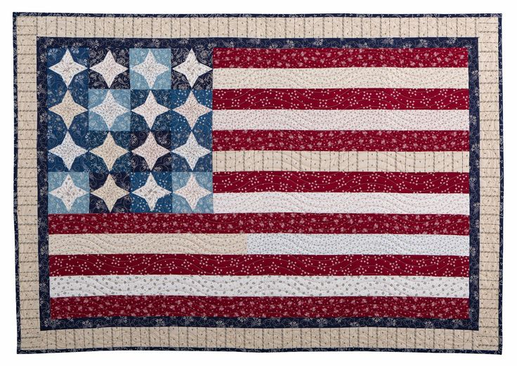 American Flag quilt at Inspired by Fabric: Vintage Shirting Bonus Project Ideas
