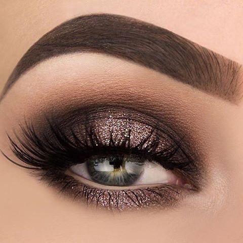 Single color eyeshadow idea dramatic eye makeup