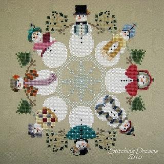 circulo de bonecos de neve