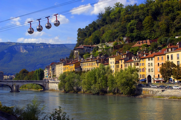 France - Grenoble...someday I will bring my family to this amazing city. This was my street. Not too shabby!