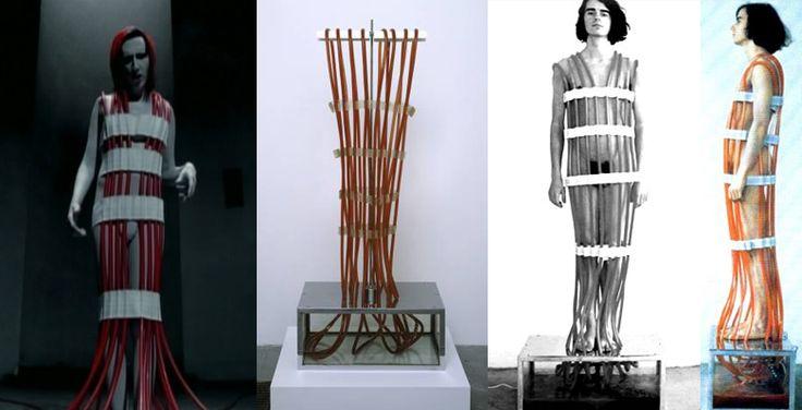 Rebecca Horn, Overflowing Blood Machine, 1970 hommaged/bastardised by Marilyn Manson