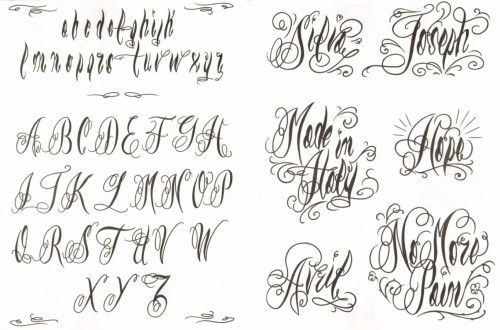 342 best tattoo fonts images on pinterest hand type for Cursive script tattoo fonts