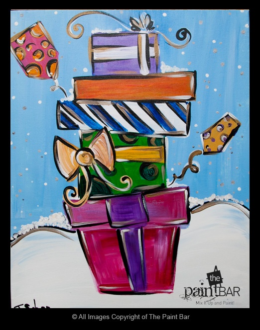 Holiday Presents Painting - Jackie Schon, The Paint Bar