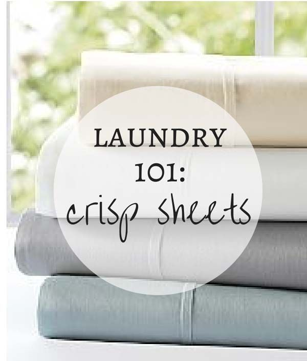 Laundry 101: how to get crisp, sweet-smelling sheets. Because getting a good night's sleep makes everything else in your life a little better.