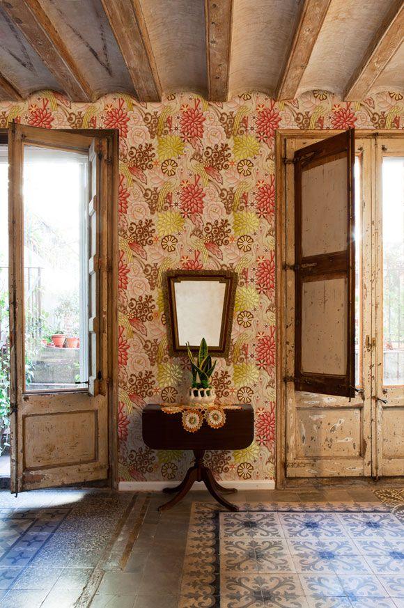 Wallpaper by Catalina Estrada.: Decor, Interior, Ideas, Wallpapers, Space, Catalinaestrada, Room, Catalina Highway