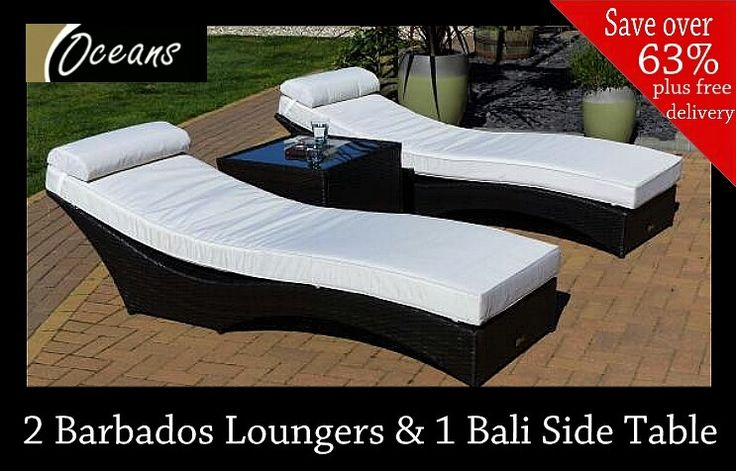 Our Barbados Loungers are exclusively designed by Oceans to make sunbathing on your back or front luxuriously comfortable. This special package deal also includes a Bali side table completely free of charge.
