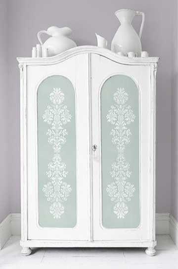 Furniture Stencils | Delicate Floral Panel A | Royal Design Studio