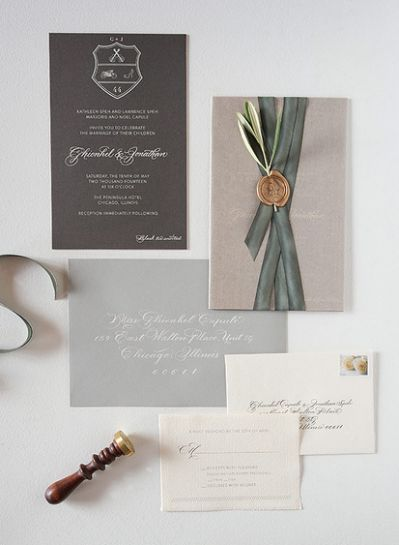 ... in custom wedding invitations