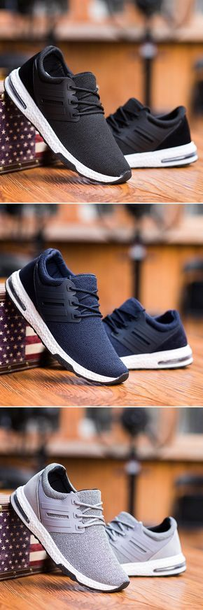 Mens Mesh Breathable Shock Absorption Sport Running Lace Up Casual  Trainers. Find this Pin and more ...