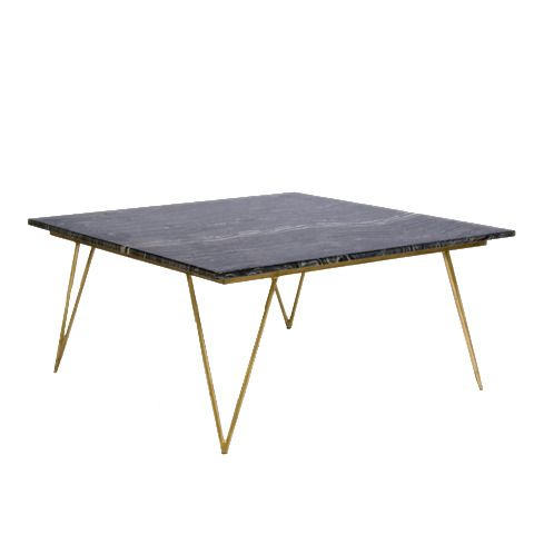 gold leaf and black marble coffee table