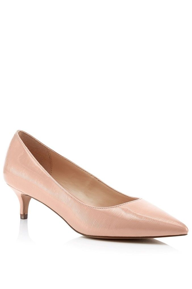 Womens Faith Wide Fit Kitten Heel Court Shoe Pink Kitten Heels Heels Court Shoes