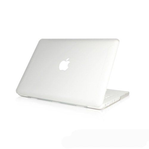 """From 15.50:Topideal Matte Frosted Hard Shell Case Cover For 13-inch White Unibody Macbook 13"""" (model: A1342 / Released After Oct. 2009)-clear"""