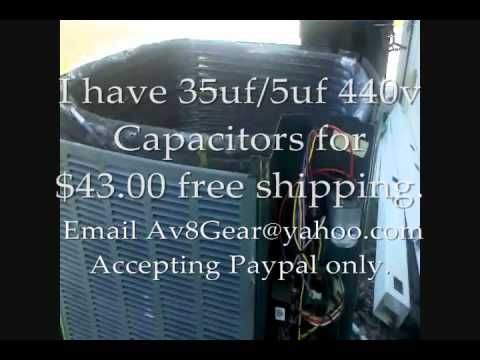 AC Problem/Repair TRANE XR13  - Fan Motor, Capacitor Trouble Shoot and R...